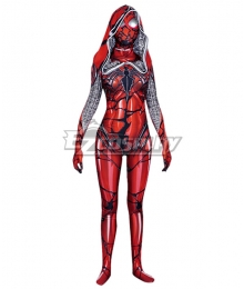 Venom Symbiote Spiderman Gwen Stacy Carnage Printed Jumpsuit Cosplay Costume