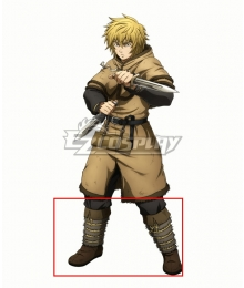 Vinland Saga Thorfinn Brown Shoes Cosplay Boots