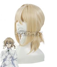 Violet Evergarden: Eternity and the Auto Memory Doll Violet Evergarden Golden Cosplay Wig