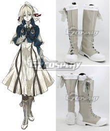 Violet Evergarden Violet Evergarden White Shoes Cosplay Boots