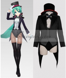 Vocaloid 2 Project Diva Miku Magician Swallowtail Cosplay Costume