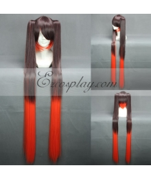 Vocaloid Dead Miku  Brown&Red Cosplay Wig-042G