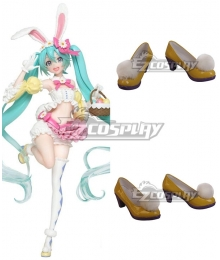 Vocaloid Hatsune Miku 2nd Season Spring Ver. Yellow Cosplay Shoes