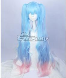 Vocaloid Hatsune Miku Blue Pink Cosplay Wig
