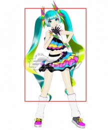 Vocaloid Hatsune Miku Catch The Wave Green Yellow Cosplay Wig