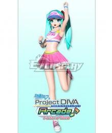 Vocaloid Hatsune Miku Cheer Cosplay Costume