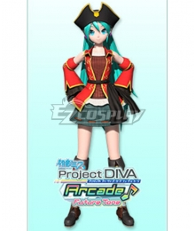 Vocaloid Hatsune Miku Pirate Cosplay Costume