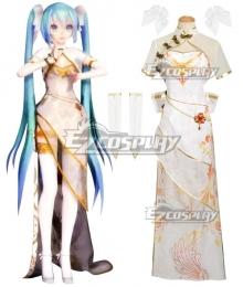 Vocaloid Hatsune Miku TDA Miku Cheongsam Dress China Canary Cosplay Costume