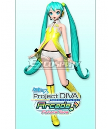 Vocaloid Hatsune Miku Yellow Cosplay Costume
