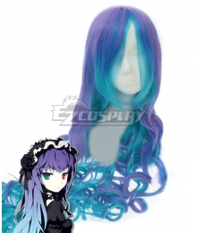 VOCALOID Luka ANTI THE HOLiC Halloween Blue Purple Cosplay Wig
