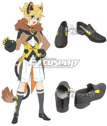 Vocaloid Magical Mirai 2019 Kagamine Len Black Shoes Cosplay Boots