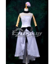 Vocaloid Megurine Ruka White Dress Cosplay Costume-Y294