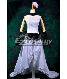 Vocaloid Megurine Ruka White Long Dress Cosplay Costume-Y288