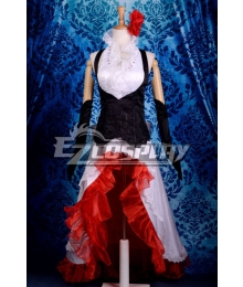 Vocaloid Meiko White Dress Cosplay Costume-Y291