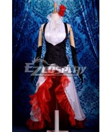 Vocaloid Meiko White Dress Cosplay Costume-Y291
