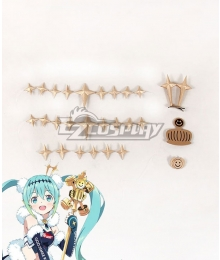 Vocaloid Racing Miku 2018 Ver. Headwear Leg wear Cosplay Accessory Prop