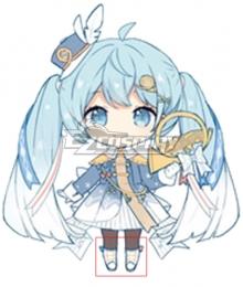 Vocaloid Snow Miku 2020 Hatsune Miku White Cosplay Shoes