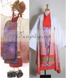 Vocaloid Thousand Cherry Tree Meiko Geisha Cosplay Costume