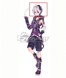 Vocaloid V4 Flower White Black Cosplay Wig