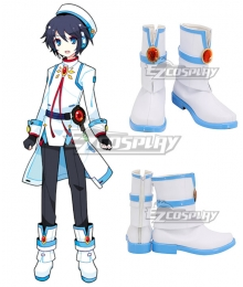 Vocaloid Zihyu Moke White Cosplay Shoes