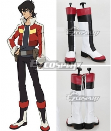 Voltron: Legendary Defender Keith White Shoes Cosplay Boots