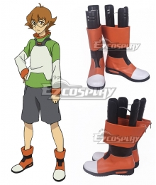 Voltron: Legendary Defender Pidge Gunderson Katie Holt Orange White Black Cosplay Shoes