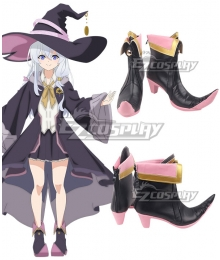 Wandering Witch: The Journey of Elaina Elaina Black Cosplay Shoes