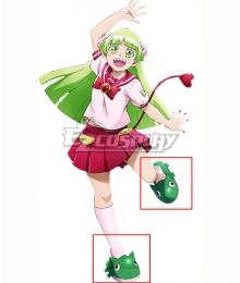 Welcome to Demon School! Iruma-kun Valac Clara Green Cosplay Shoes