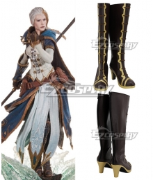 World of Warcraft Jaina Proudmoore Brown Shoes Cosplay Boots