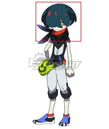 World's end Club Death March Club Pochi Blue Cosplay Wig