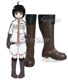 World Trigger BORDER Chika Amatori Brown Shoes Cosplay Boots