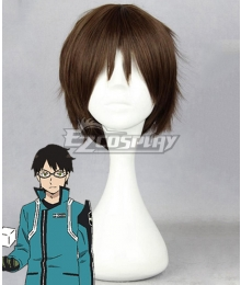 World Trigger BORDER Osamu Mikumo Brown Cosplay Wig