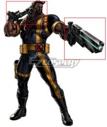 Marvel X-Men Lucas Bishop Double Guns Cosplay Weapon Prop