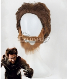 X-Men Origins: Wolverine Wolverine Brown Cosplay Wig
