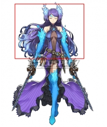 Xenoblade Chronicles 2 Brighid Purple Cosplay Wig