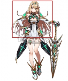 Xenoblade Chronicles 2 Mythra Silver Cosplay Wig