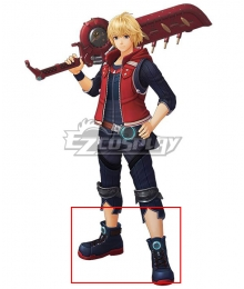 Xenoblade Chronicles : Definitive Edition Shulk Black Shoes Cosplay Boots
