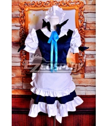Touhou Project Izayoi Sakuya Maid Cosplay Costume Deluxe Version
