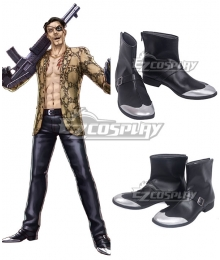 Yakuza Goro Majima Black Cosplay Shoes
