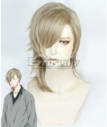 Yarichin Bitch Club Koushirou Itome Golden Brown Cosplay Wig