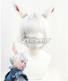 Final Fantasy XIV FF14 Y'shtola Rhul Yshtola Rhul Silver Cosplay Wig