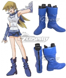 Yu-Gi-Oh! GX Alexis Rhodes  Blue Shoes Cosplay Boots