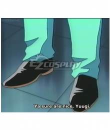 Yu-Gi-Oh! Season 0 Ryuichi Fuwa Black Cosplay Shoes