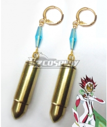 Yu-Gi-Oh! VRAINS Revolver Roken Kogami Earrings Cosplay Accessory Prop