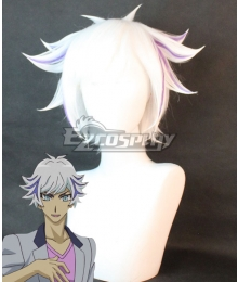 Yu-Gi-Oh! VRAINS Revolver Roken Kogami Silver Cosplay Wig