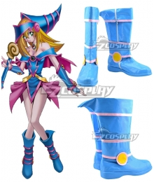 Yu-Gi-Oh! Yugioh Dark Magician Girl Blue Shoes Cosplay Boots