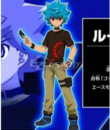 Yu-Gi-Oh! Yugioh Sevens Luke Tatsuhisa Kamijou Cosplay Costume