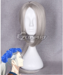 YURI!!! on ICE Victor Long Hair Silver Cosplay Wig