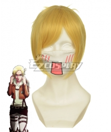 Shingeki no Kyojin Attack on Titan Annie Survey Corps Golden Cosplay Wig