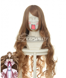 Code Geass Nunnally Lamperouge Yellow Brown Cosplay Wave Wig 037G